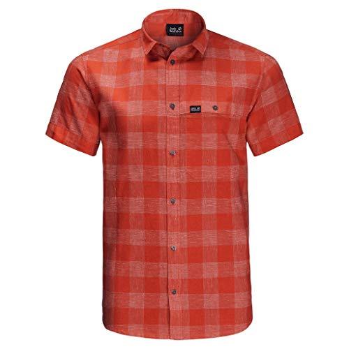 Jack Wolfskin, Highlands Shirt, Kurzarm-Shirt, Chili Kontrollen, L, Mann