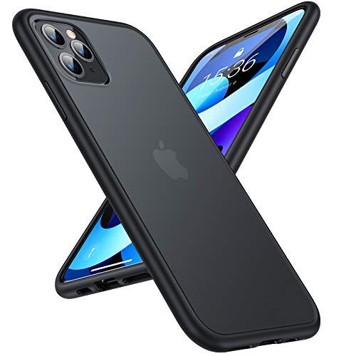 TORRAS iPhone 11 Pro Hülle [Echter Militärischer Schutz] Matt Umfassender Stoßfester Schutz Slim & Silikon Durchscheinend Handyhülle iPhone 11 Pro Case KratzfestSchutzhülle iPhone 11 Pro - Schwarz
