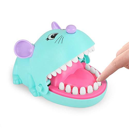 ZZAZXB Mund Beißen Finger Spielzeug, Niedlichen Cartoon Maus Kinder Action Geschicklichkeit Spiel Lustiges Spielzeug Kinder Kind Erwachsene Krokodil Beißen Finger Spiel Kinder Geschenk,Grün