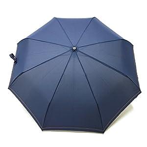 小宮商店 風に強い 新耐風自動開閉傘 折りたたみ傘メンズ ステッチ入り (紺)