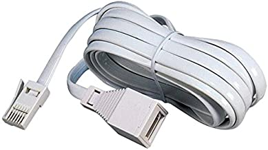 Telephone EXT 6 Way BT Plug to SKT 10M Cable Length - Metric 10m Connector Type A BT631A Plug Connec