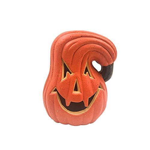 ZHKXBG Kleurrijke veranderende LED batterij aangedreven Halloween-pompoen licht - grappige gedraaide pompoenvorm, L