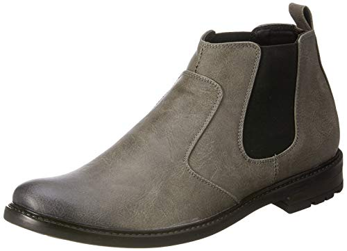 Amazon Brand - Symbol Men's Grey Casual Chelsea boots - 7 UK/India (41 EU)(AZ-OM-71A)