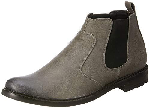Amazon Brand - Symbol Men's Grey Casual Chelsea boots - 9 UK/India (43 EU)(AZ-OM-71A)