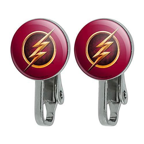 GRAPHICS & MORE The Flash TVシリーズロゴ ノベルティクリップオンスタッドイヤリング