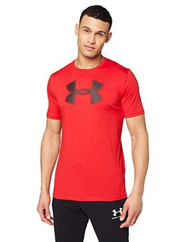 Under Armour Big Logo Ss - Camiseta ligera de manga corta para hombre, color Rojo/Negro, talla M