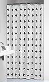 Sealskin Textil Duschvorhang Signes, schwarz-weiß, B x H: 180 x 200 cm