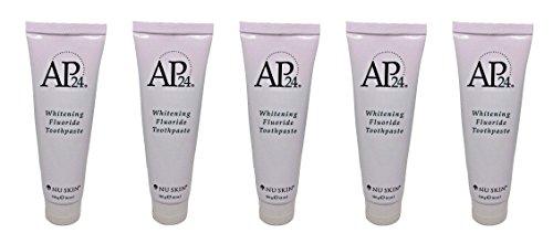 Nu Skin zPfLpN Ap 24 Whitening Fluoride Toothpaste, 4 oz, 5 Pack