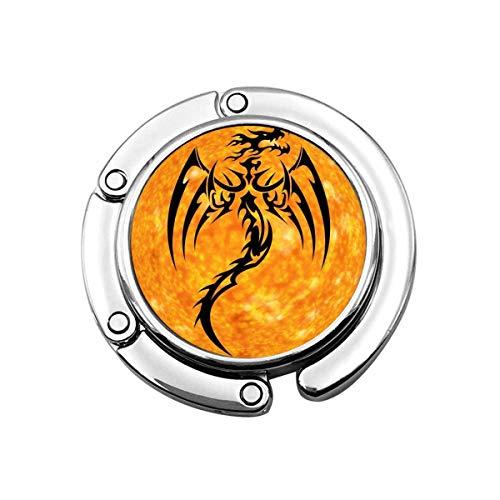 Dragon Fire Abstract Art Bright Plegable Monedero Gancho Colgadores de Bolso Decoración Gancho de Mesa
