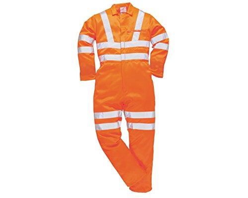 Yoko Sicherheitsgelb Polycotton Overall / Herren Arbeitskleidung - Herren, Gelb Gut Sichtbar, L