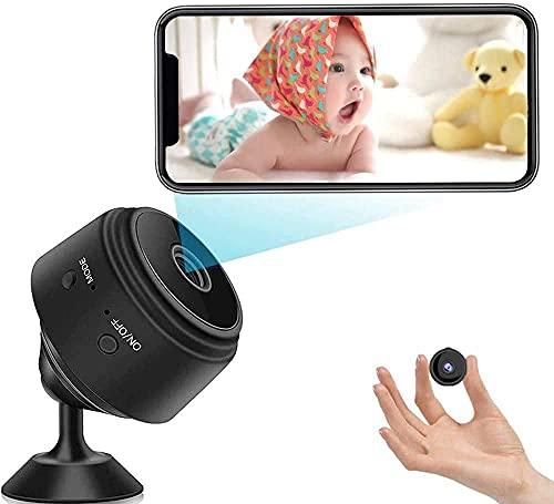 Mini caméra, Petite caméra de sécurité sans Fil Portable Full HD 1080P avec détection de Mouvement et Vision Nocturne Infrarouge, Carte SD 32G adaptée à Une Utilisation intérieure et extérieure