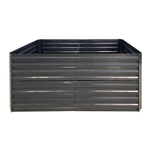OUTLIV. Hochbeet 160x80x77cm aus verzinktem Stahl, Gemüsebeet oder Kräuterbeet für Garten und Terrasse in Anthrazit
