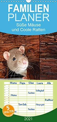 Süße Mäuse und Coole Ratten - Familienplaner hoch (Wandkalender 2021, 21 cm x 45 cm, hoch)