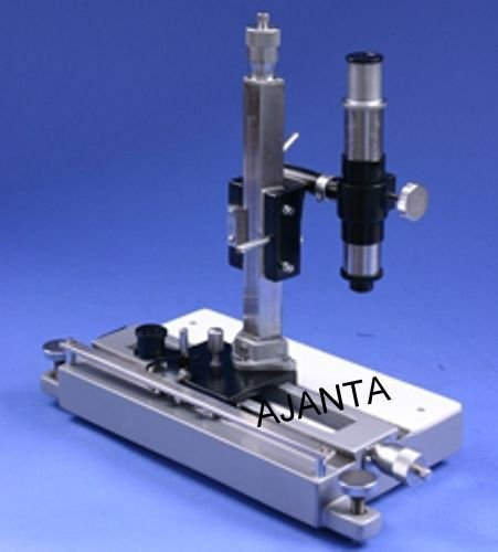 Ajanta Travelling Microscope Vertical And Horizontal With Wooden Case
