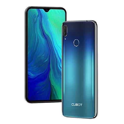 "CUBOT R15 Android 9.0 Smartphone Libre 6.26"" Gotas de Agua 19:9 Full-Screen Quad-Core 16GB ROM Dual SIM Cámara Dual Detección de Giroscopio/GPS 3000mAh WiFi Bluetooth CUBOT Oficial (Aurora)"