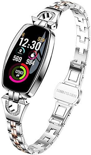 Reloj Inteligente Moda Deportes Ip67 Pulsera Impermeable con Monitor de Frecuencia Cardíaca Contador de Paso Monitor de Sueño Mujeres Fitness Tracker Moda