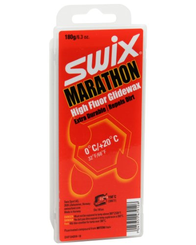 Swix DHF 104BW-18 Cera F Marathon Dirty Harry Hochleistungs-Wachs, 180 g, Grau