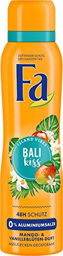 FA Deospray Island Vibes Bali Kiss Mango- & Vanilleblüten-Duft, 6er Pack (6 x 150 ml)