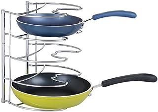mDesign Organizador de sartenes de hasta 28 cm – Accesorios para muebles de cocina – Estanterías para cocina para organiza...
