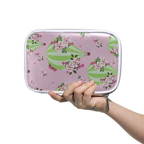 Bolsa de artículos de tocador para niñas volando globos de aire caliente en el cielo 1 bolsa de cosméticos bolsa de maquillaje para mujeres bolsa de bolígrafo para niños multifuncional para hombres