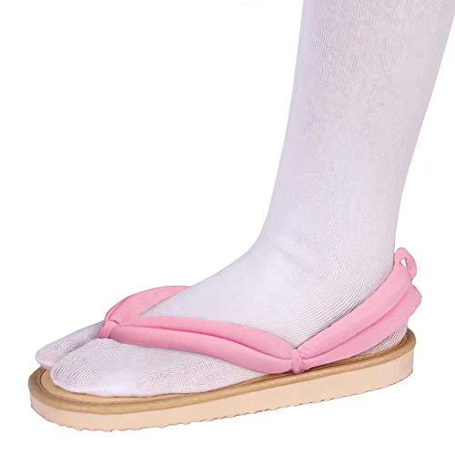 uDaShaA Kimetsu no Yaiba Cosplay Clog Schuhe mit Socken Japanischer Dämonentöter Anime KAMADO NEZUKO Cosplay Sandalen