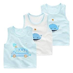 (ビメイゴー) Bmeigo タンクトップ キッズ 女の子 男の子 ランニングシャツ 3枚組 綿 下着 インナー 女児 肌着 ベビー スクールインナー 通気 幼児 保育園 小学生 日替り 通園 通学 可愛い