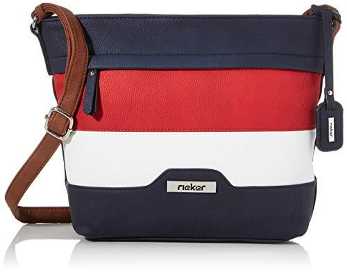 Rieker Damen Handtasche H1328, Blau (Pazifik/Rosso/Bianco), 240x80x310 cm