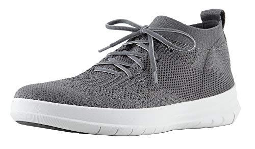 Fitflop Damen Uberknit Slip-on High Top Sneaker Hohe Hausschuhe, Grau, 41 EU