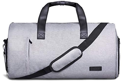 Anzugtasche UND Reisetasche 2in1, 55l Weekender-Tasche, Reise-Seesack Reisetaschen für Männer, Handgepäck, Kabinentasche Leder Business Tasche Handgepäck Anzug, Tragekoffer, Kleidersack Männer