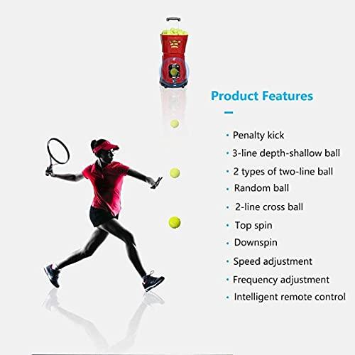 SKYEGLE Tennisball-Maschine, tragbarer Tennisballwerfer, automatische Übungsausrüstung, Ballwerfer mit Fernbedienung für Anfänger Tennistraining – S2015
