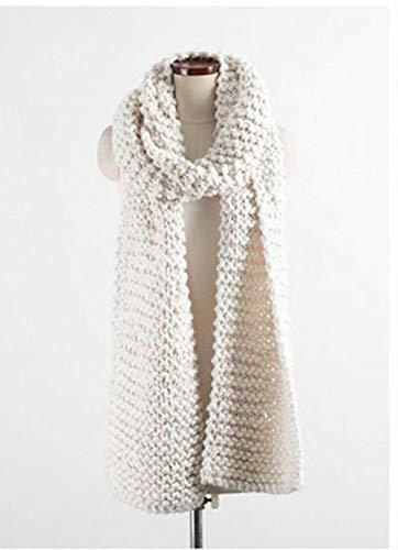 YDNGF sjaal, herfst, winter, warm, voor mannen en vrouwen, uniseks, gestreept, voor breien