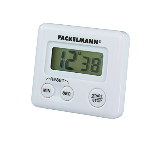 Fackelmann Kurzzeitwecker, digitale Küchenuhr, magnetische Eieruhr (Farbe: Weiß), Menge: 1 Stück