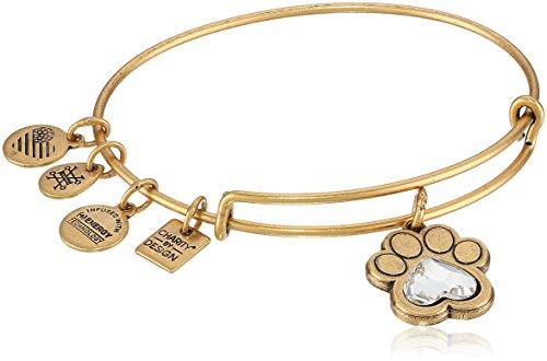 Alex and Ani Prints of Love Expandable Rafaelian Gold Bangle Bracelet