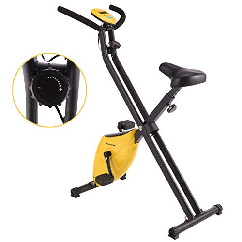 Exercise Cycling Bike Indoor Fitness Bike Verstelbare Professional Hometrainer met LCD-scherm Home Office Gym,Yellow