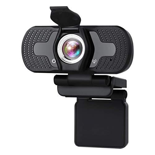 HKBTCH Webcam 1080p HD Videokamera PC Laptop Kamera mit Webcam-Abdeckung, USB 2.0 Unmanned Laufwerk Webcam mit Mikrofon, Autofokus, 360 Grad Drehung für Videoanrufe, Konferenzen, YouTube