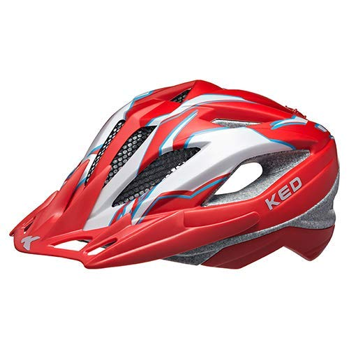 K-E-D Fahrradhelm Street Junior Pro Allround-Helm in robuster maxSHELL- Technologie, Quicksafe- und Quickstopp-System. (M (Kopfumfang 53-58 cm), Red Pearl Matt)