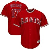 Outerstuff Shohei Ohtani Los Angeles Angels MLB Majestic Youth Scarlet Red Alternate Cool Base Player Jersey (Youth Large 14-16)