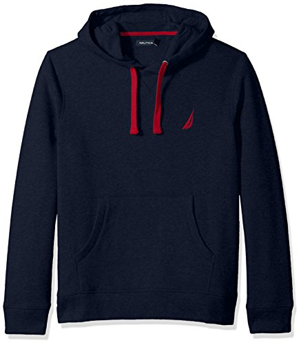 Nautica Men's Chest Logo Pullover Hoodie, Navy, Large