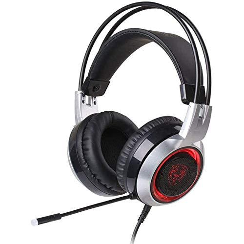 Usbgaming Headset Trois Couleurs Led Respiration Light 3D Surround Sound Hd Microphone Réduction Du Bruit Avec Lecteur Gratuit Carte Son