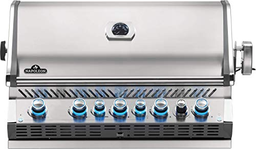 Napoleon BIPRO665RBPSS-3 Built-in Prestige PRO 665 RB Propane Gas Grill Head, 625 sq.in. + Infrared Infrared Rear Burner, Stainless Steel