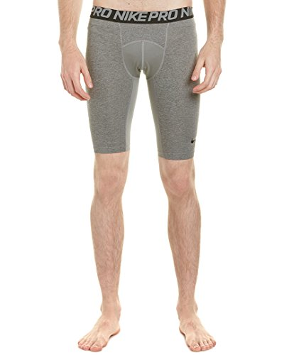 NIKE Shorts Pro Cool Pantalón Corto, Hombre, Gris-Gris, M