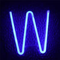 LED ナイトライト アルファベット インテリアライト 装飾ライトイルミネーション ネオンライト クリスマス 部屋飾り 誕生日 結婚式 記念日 パーティー バー カフェ 客室 ベッドルーム 廊下 ホームイベント展示ホール ブルー英語文字A~Z ギフトW