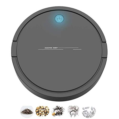 LTLJX Robot Aspiradora 2 en 1 Barrer y trapear 6.8cm Ultra Delgado Auto robóticos Vacuumms for Las alfombras de la baldosa del Pelo de Animales, Blanca LUDEQUAN (Color : Black)