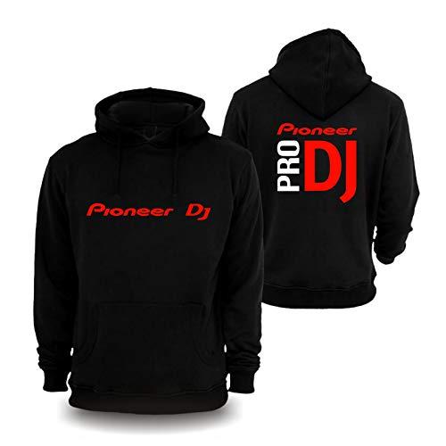 Pioneer DJ Pro Premium Hoodie CDJ Nexus 2 Mixers Controller Player Gr. L, Schwarz