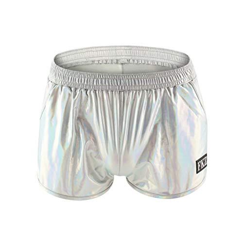 FRAUIT Herren Badehose Lackleder Schillernde Shorts Mode Shorts Slim Fit Badeshort | Männer Badehose | Badeshorts Jungen | Badehosen