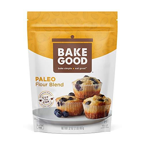 BakeGood Paleo Flour Blend, 2lb, 1-to-1 Replacement for All Purpose Flour, Gluten Free, Non-GMO, Kosher