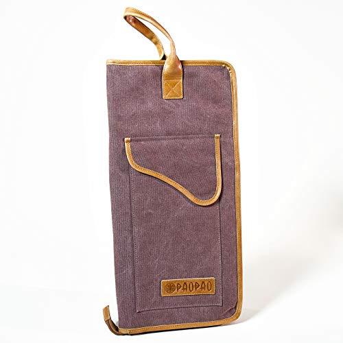 PaoPao Drumstickbag - DRUMSTICK-TASCHE FÜR DEINEN PERFEKTEN BEAT - handgefertigt aus Leder (Lila)