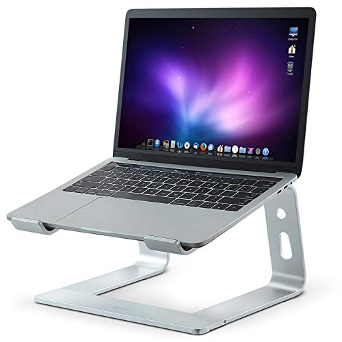 Laptop Stand for Desk, Ergonomic Aluminum Laptop Mount Computer Stand, Sturdy & Protective Laptop Riser Notebook Stand, Cooling Better Compatible with 10-15.6' Notebook Computer(Aluminum)