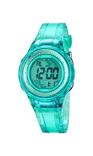 Calypso K5688/4 - Reloj Digital para Mujer con Esfera Turquesa y Correa de plástico