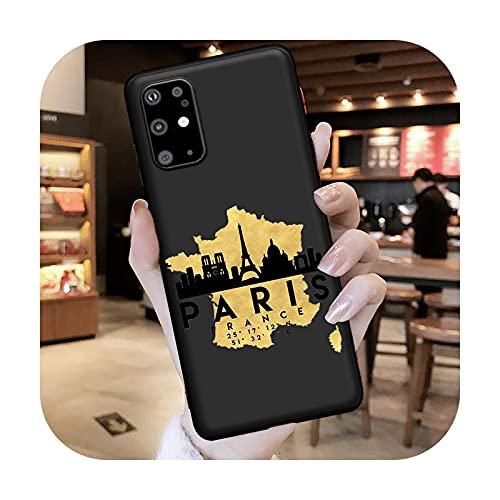 Travel New York Paris Tokyo London World - Funda para Samsung Galaxy S7 Edge S8 S9 S10e S20 S21 Note 8 9 10 20 Ultra Plus Etui-H7128-Note 20